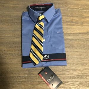 High Quality Chaps Performance Dress Shirt and Tie